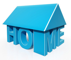 House Word Icon Showing House For Sale