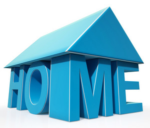 House Word Icon Shows House For Sale
