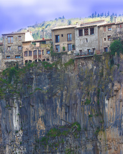 Houses In A Precarious Situation Due To Erosion