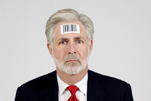Human Being With Bar Code