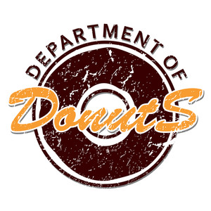 Humorous Vector Illustration Of Department Of Donuts Icon