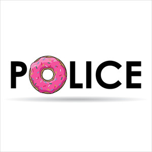 Humorous Vector Illustration With Donut And Text