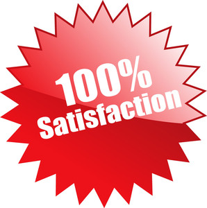 Hundred Percent Satisfaction Sticker