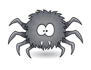 Hunter Spider - Halloween Vector Illustration