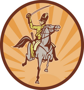 Hussar Lighthorseman Cavalry Charging