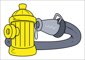 Hydrant Rescue Water Pipe - Vector Illustrations