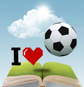 I Heart Soccer Book Concept