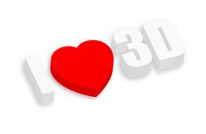 I Love 3d Text