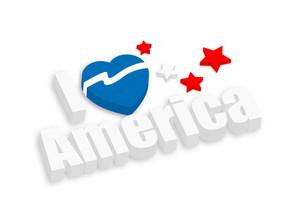 I Love America 3d Banner