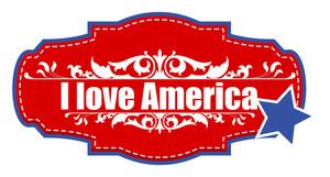 I Love America  Vector