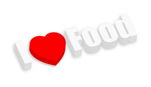 I Love Food Text Banner