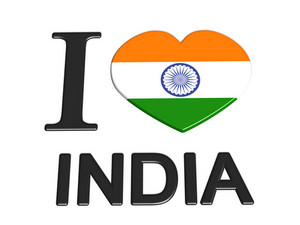 I Love India Logo Flag Love Travel Tourism