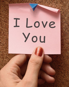 I Love You Message Showing Romance