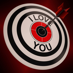I Love You Shows Valentines Affection To Lover