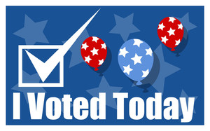 I Voted Today  Election Day Vector Background