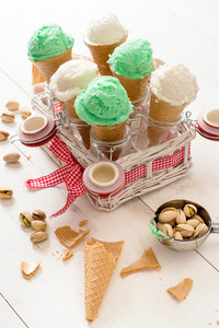 Ice Cream In Cones