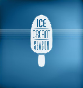 Ice Cream Season - Typographic Design Concept