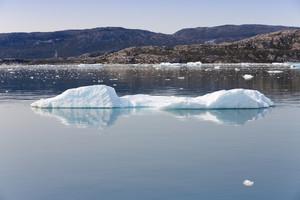 Ice floe along the coast