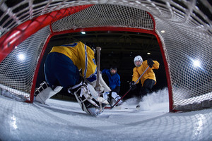 Ice hockey goalkeeper
