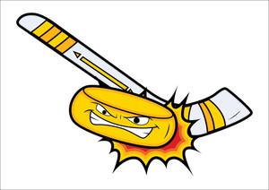 Ice Hockey Mascot Tattoo Vector