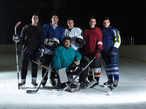 Ice hockey players team