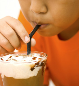 Iced Coffee With Cream With Lots Of Calories