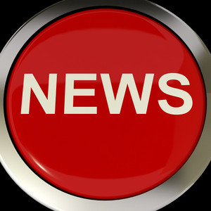 Icon Or Button Showing The Text News For Information Or Media