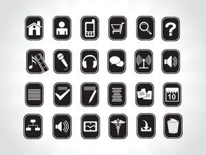 Icons On Black Background
