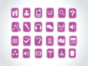 Icons With Purple Background