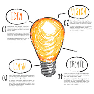 Idea concept with creative light bulb design
