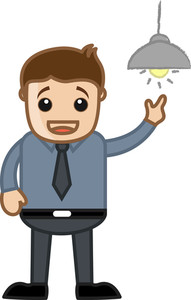 Idea Generated - Office Character - Vector Illustration