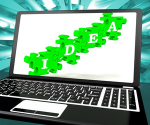 Idea On Laptop Shows Websites' Inventions