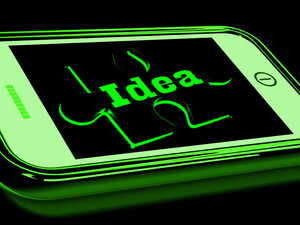 Idea On Smartphone Shows Creative Concepts