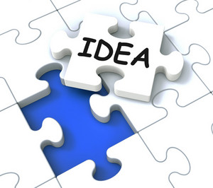 Idea Puzzle Showing Creative Innovations