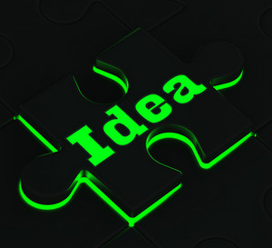 Idea Puzzle Showing Innovation And Inventions