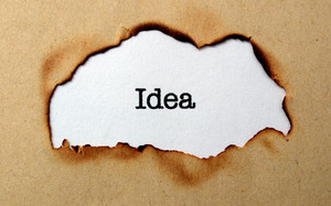 Idea Text On Paper Hole