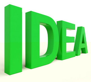 Idea Word In Green Showing Concept Or Creativity