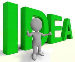 Idea Word Shows Concept Thoughts And Creativity