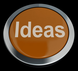 Ideas Button Showing Improvement Concepts Or Creativity