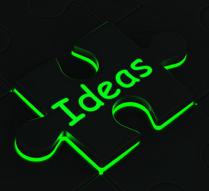 Ideas Puzzle Showing Concepts And Innovation