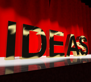 Ideas Word On Stage Showing Concepts Creativity Or Acting