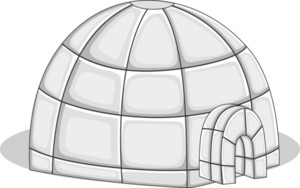 Igloo - Vector Illustration