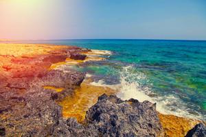 Igneous sea coast, Protaras, Cyprus