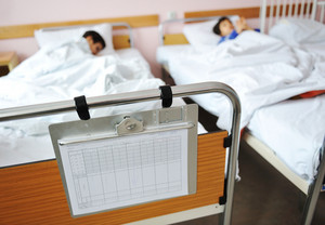 Ill child in hospital