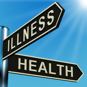 Illness Or Health Directions On A Signpost