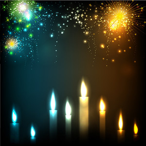 Illuminating Candles Theme For Diwali Or Deepawali Festival.