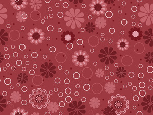 Illusration Of Blossoms Pattern Background