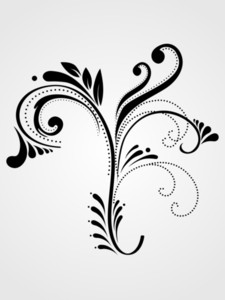 Illustration Black Floral Pattern Tattoo