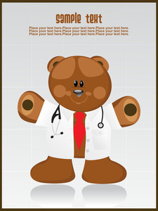 Illustration Docter Bear