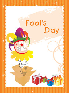 Illustration Fools Day Gretting Card
